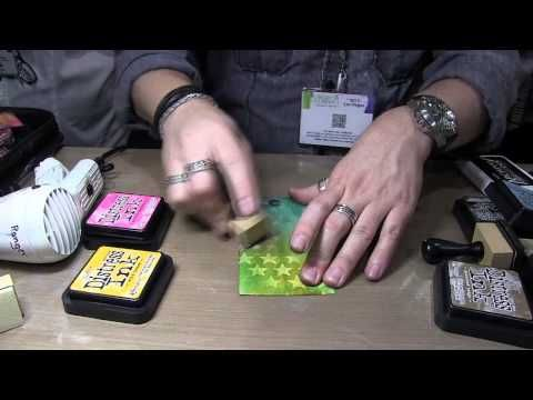 Tim Holtz Layering Stencils Part Two; these are 2 of the best layering videos I've seen. He makes it seem so simple!!