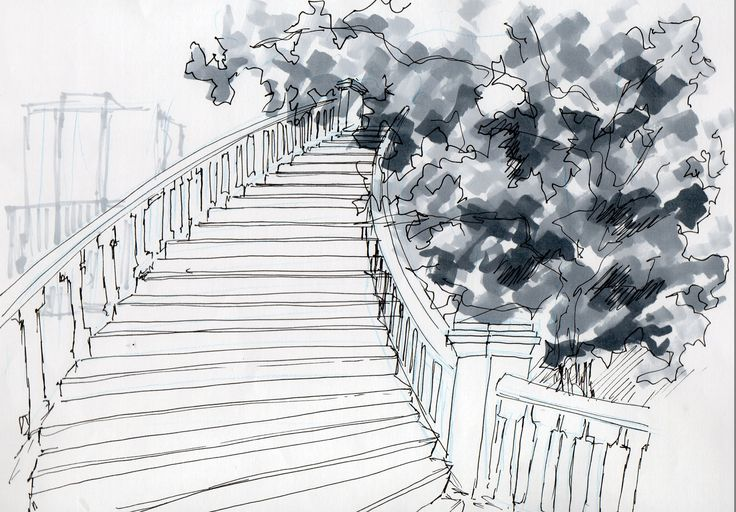 escaleras- Cerro santa lucia.(croquis Camicc)