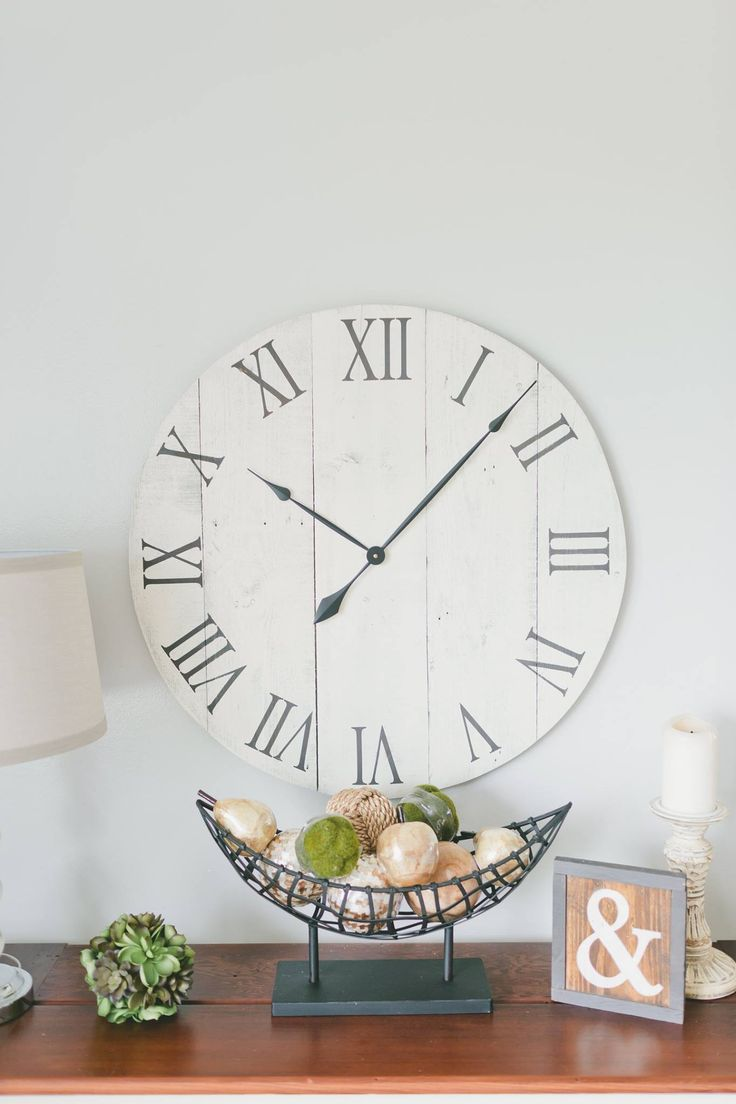 41 best large wall clock images on pinterest large wall clocks 30 in wall clock white oversized wall by woodlanecreationsllc amipublicfo Gallery