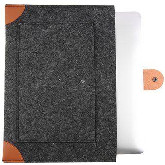EH Nueva moda de fieltro de la manga del caso de la cubierta para Apple MacBook 13 pulgadas portátil Gris oscuro