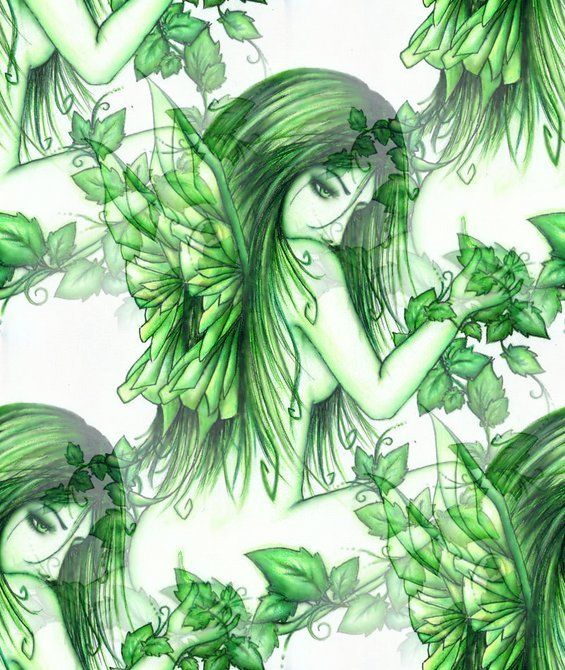 green angel in springtime - photo #16