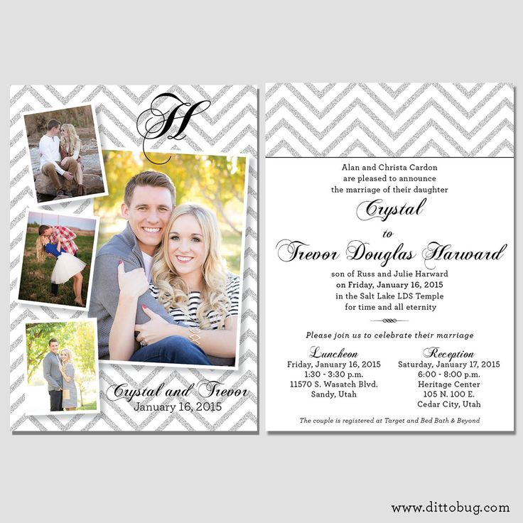 Utah Wedding Invitations And Utah Wedding Announcements