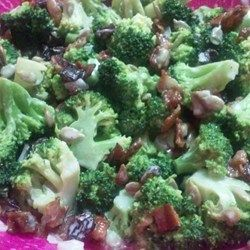 Bacon Broccoli Salad with Raisins and Sunflower Seeds Recipe - Allrecipes.com