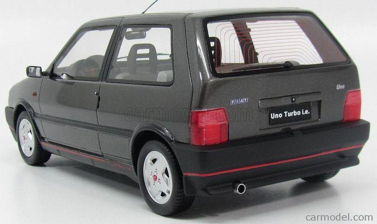 LAUDORACING LM104D Scala 1/18  FIAT UNO TURBO ie 2 SERIE MKII 1990 GREY MET