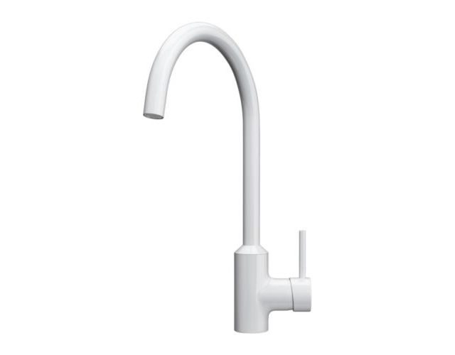 IKEA ringskar single lever kitchen mixer tap white