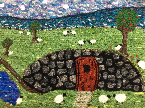 Relaxing by the Root Cellar: Rug Hooked Wall by FiresideRugHooking