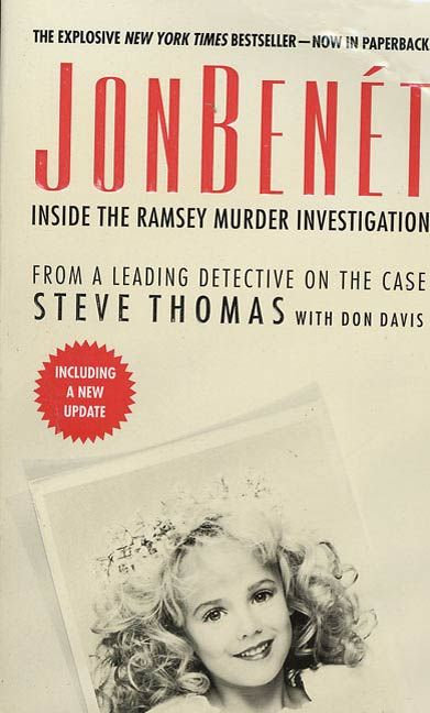 Finally, the information you've been waiting for: who really killed JonBenet?   Perhaps the most compelling murder case of our day, the death of six-year-old JonBenet Ramsey galvanized the nation-and years after it occurred, the mystery still endures. Who killed the young beauty queen and why? Who is covering up for whom and who is simply lying? In JonBenet, the most authoritative and comprehensive study of the Ramsey murder, a former lead Boulder Police detective, Steve Thomas, explores…