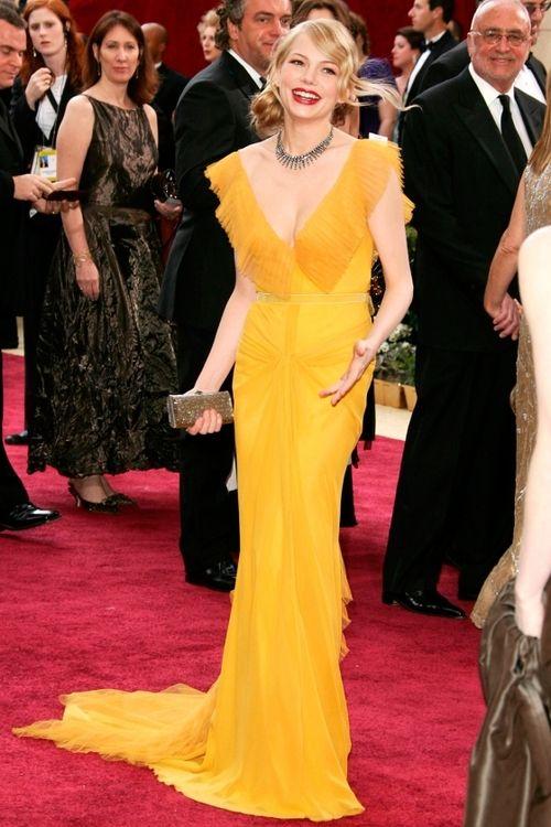 Michelle Williams   Vera Wang   Oscars 2006