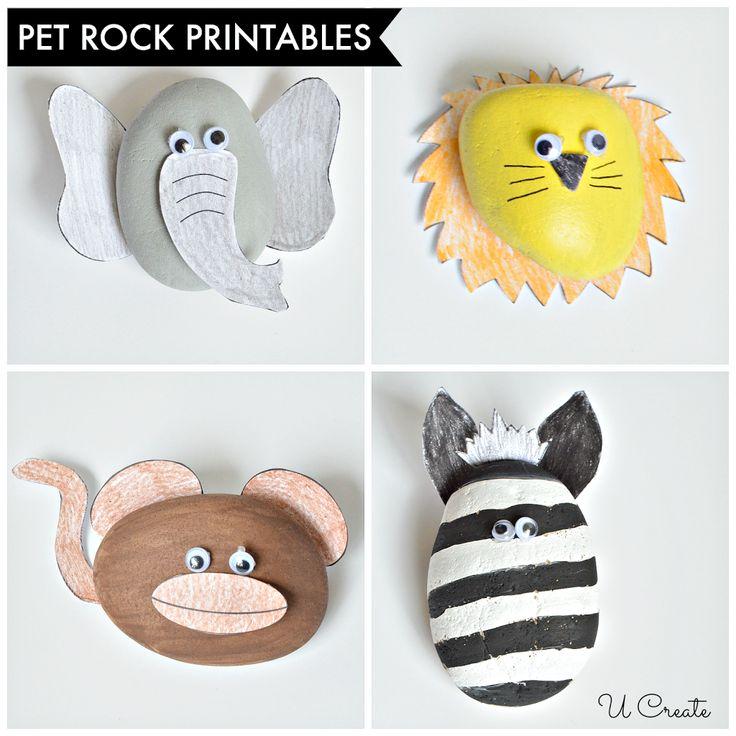 Rock Pet Printables - Zoo Edition by U Create