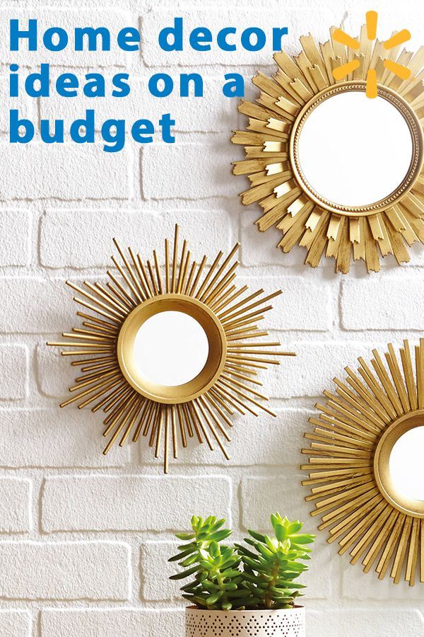 Give your home a makeover with inspiring decor items at Walmart. Find decorative mirrors, table lamps, area rugs and other unique pieces that will transform your home into an oasis. Shop at walmart.com and show off your personal style in every room.