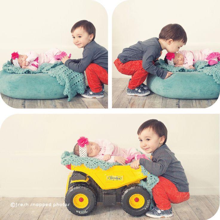 Baby in Tonka truck