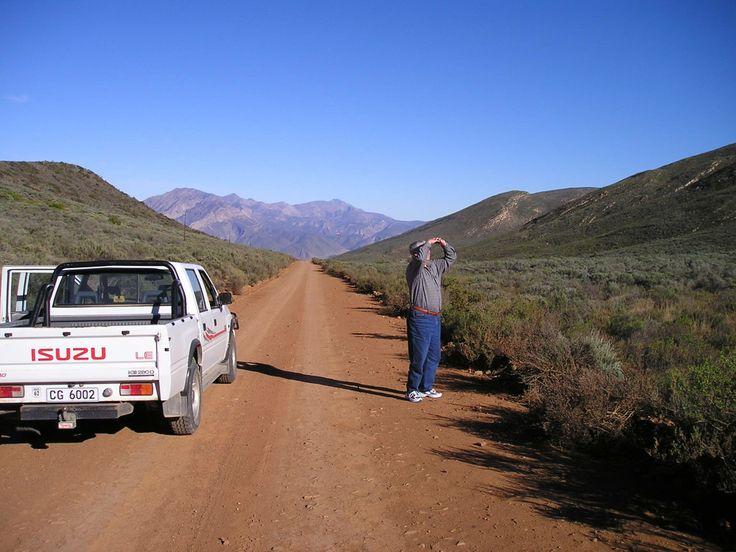 op weg naar Die Hel Bij Oudshoorn Zuid Afrika