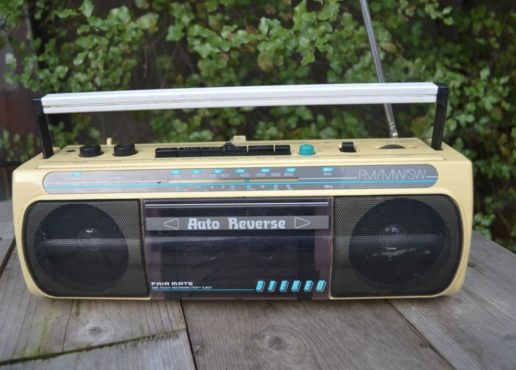 vintage Retro cassette radio player recorder receiver Asahi Electronic RD 1213 by retrovintageoddities on Etsy