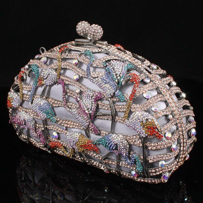 Also WOW!    Seperwar New Fashion Multicolor Flamingo Bird Clutch Evening Bag Handbag Purse Crystal Free Shipping-in Evening Bags from Luggage & Bags on ...