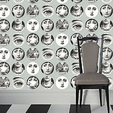 carta da parati a motivi fornasetti collection carta parati pinterest. Black Bedroom Furniture Sets. Home Design Ideas