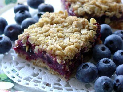 Blueberry Oatmeal Squares - Click for Recipe