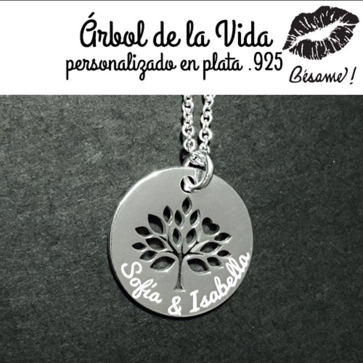 Árbol de la vida personalizado en plata