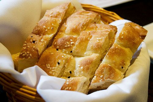 Turkish bread which is called 'pide'.