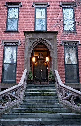 winter evening #13, George Hastings House (1846), 36 Pierrepont Street, Brooklyn Heights, New York
