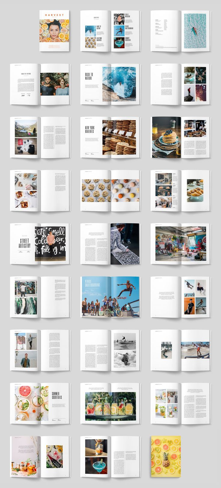 HARVEST MAGAZINE by ThomasMakesStuff on @creativemarket #magazine #brochure #indesign #template