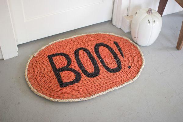 hand woven rush mat / boo!  $45.00