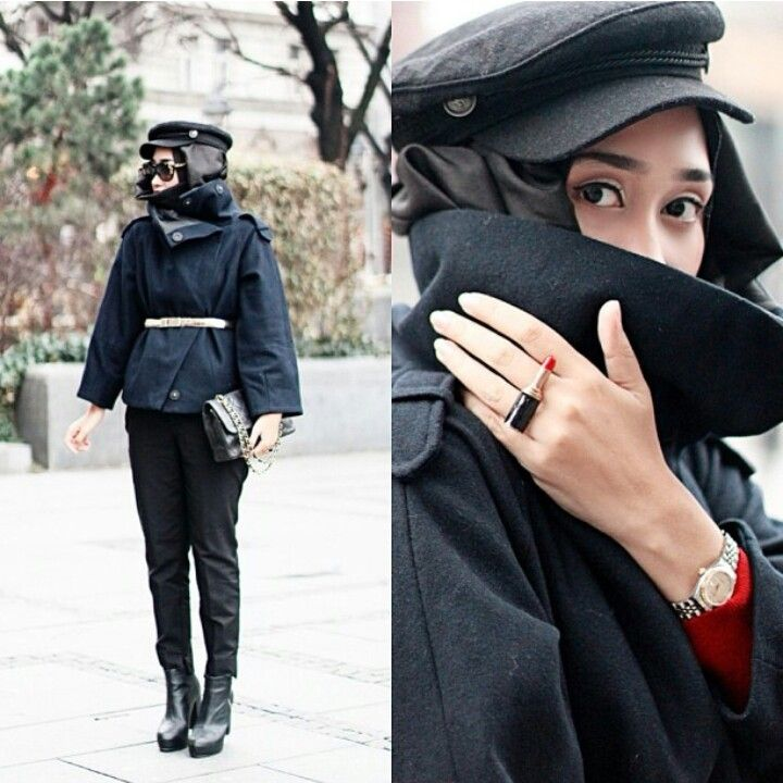 Black is the coolest color for me. Black x Red the best colormix ♥ Hijab outfit by Dian Pelangi
