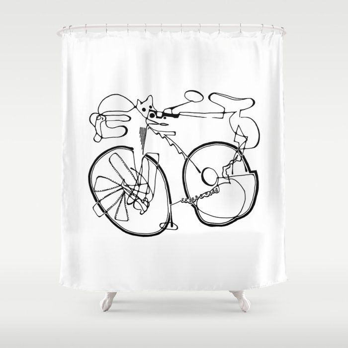 Ktm Shower Curtain Bike Room Dirt Bike Room Man Cave Bathroom