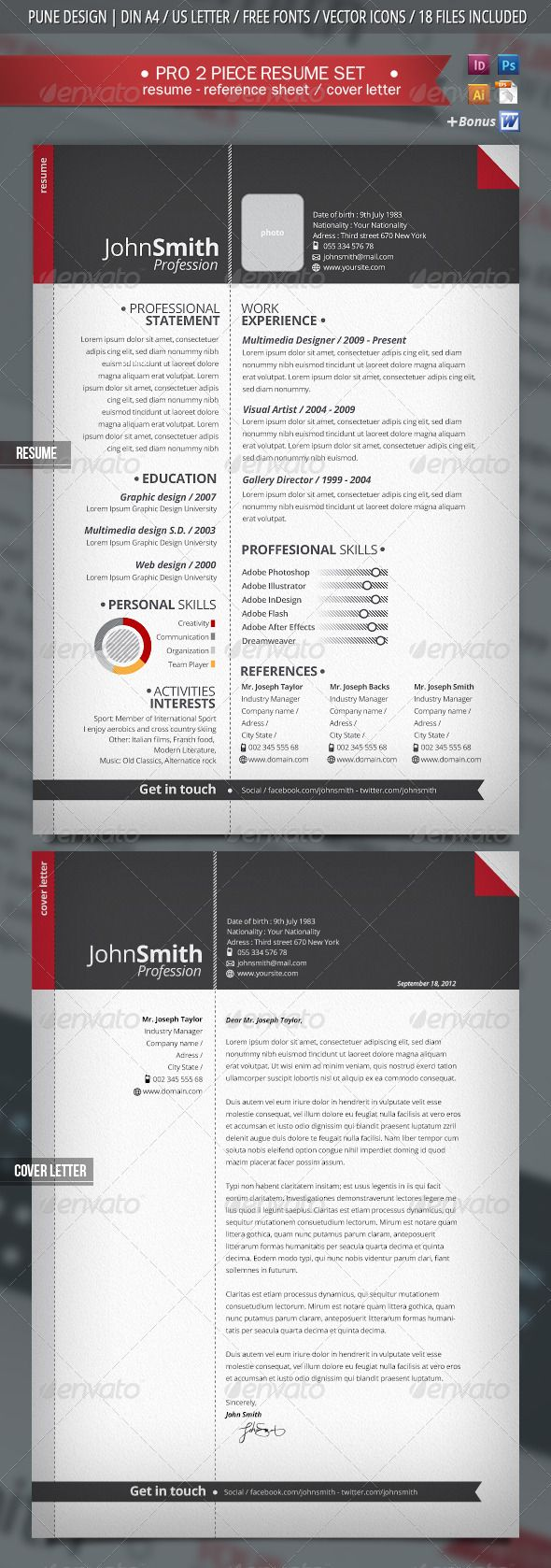 11 best cv images on Pinterest | Cv template, Resume templates and ...