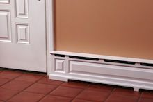 Baseboard heating covers that are soooo much better than the standard ugly ones. It actually looks like molding!