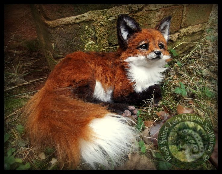 SOLD- HAND MADE Poseable Baby Fox! by Wood-Splitter-Lee.deviantart.com on @DeviantArt