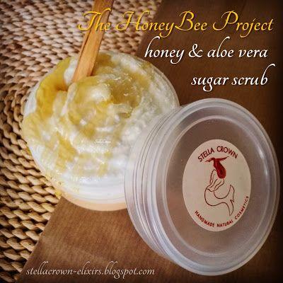 φυσικά καλλυντικά Stella Crown: diy honey & aloe vera sugar scrub  #diycosmetics #diyideas #soaks #scrubs #bodycare #TheHoneyBeeProject #honey #honeybeeproducts #detox #exfoliating #peeling #naturalcosmetics #naturalbeauty #skincare #bathtreats #bathandbody #oliveoil #soapshare #bath #luxuryproducts #recipeshare #recipeideas #beauty_elixirs #beautyblog #recipeblog #followme #φυσικά_καλλυντικά #stella_crown