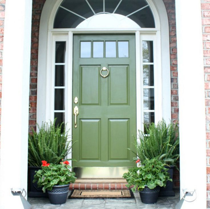 20 Front Door Ideas: Best 20+ Green Front Doors Ideas On Pinterest