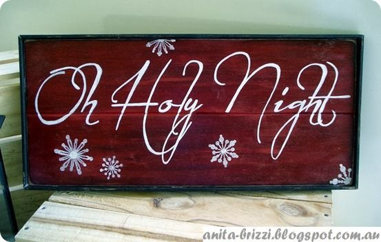 """O Holy Night"" Christmas Sign"