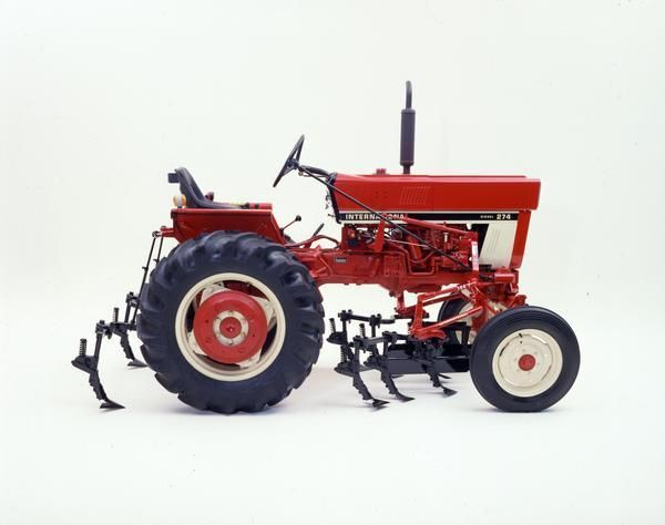 International 274 Tractor with Mounted Cultivator Photograph