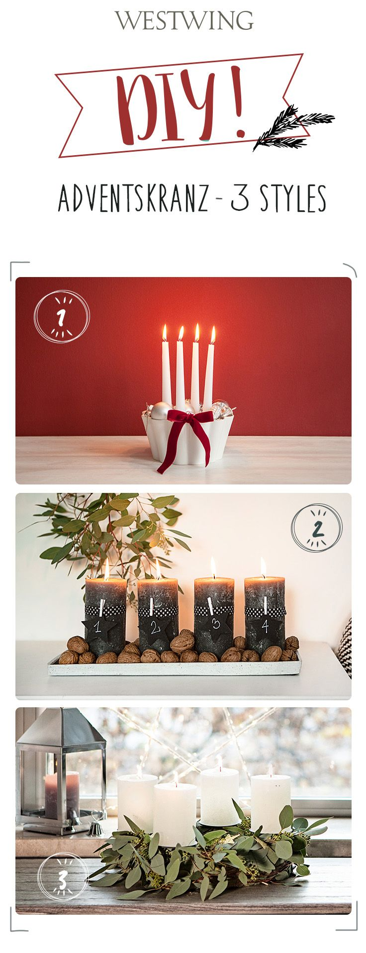 372 besten weihnachtliche dekoration bilder auf pinterest weihnachtliches sorgen und. Black Bedroom Furniture Sets. Home Design Ideas