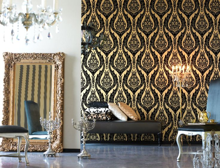 Glamour wallpaper and style for your home decor