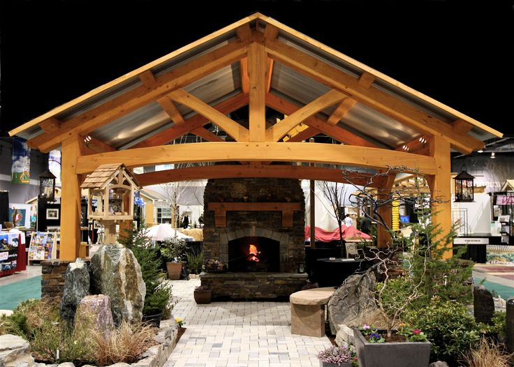 Best 25 backyard pavilion ideas on pinterest patio Timber frame house kits for sale