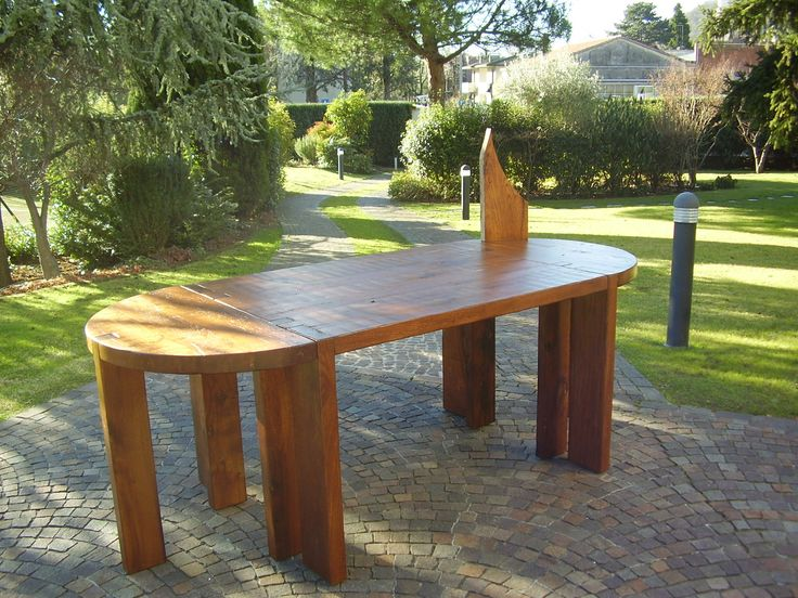 a wood table complete