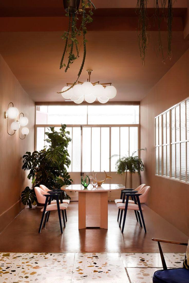 Art Déco Trifft Millenial Pink: Das Esszimmer Des Espacio Nueva Carolina.  #Studio #