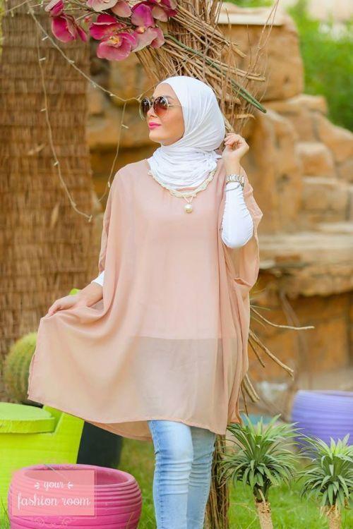 blush chiffon blouse hijab look- Hijab fashion magazine http://www.justtrendygirls.com/hijab-fashion-magazine/