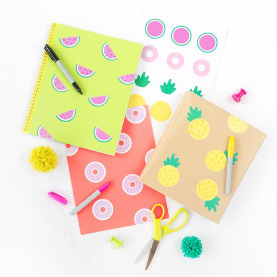 Decorate back-to-school notebooks, binders, folders and book covers with these printable notebook stickers!