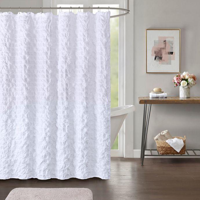Easton Shower Curtain In White White Shower Curtain Stylish