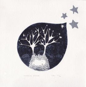 La fabrique d'étoiles, gravure à l'eau forte