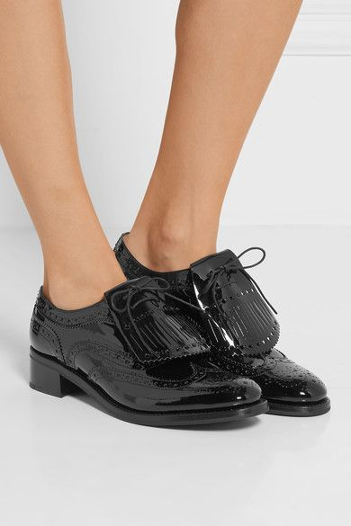 Church's | Constance patent-leather brogues | NET-A-PORTER.COM