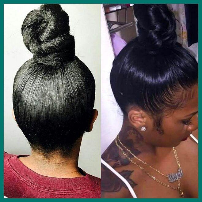 Bun Hairstyles With Weave Braided Bun Updo Hairstyles Black Updo Hairstyles With Weave Hair Styles Best Human Hair Extensions Human Hair Extensions