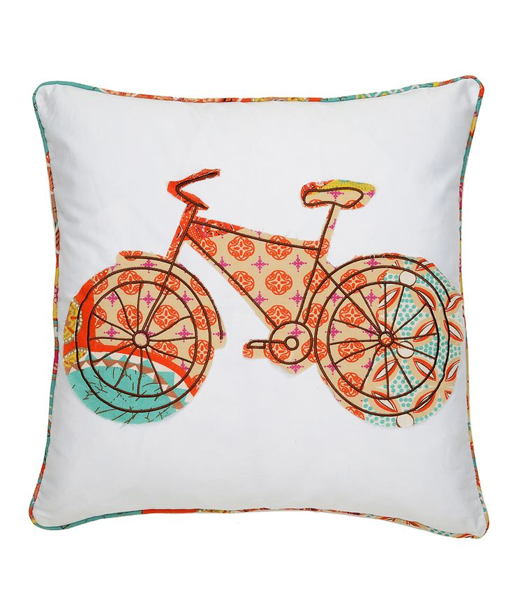 Levtex Home Bicycle Madagascar Throw Pillow Kid, Home and Daily deals