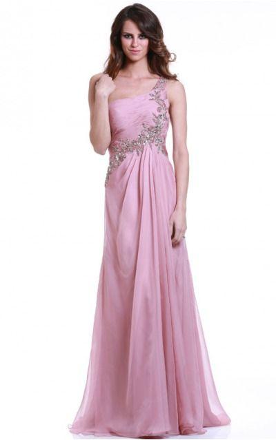 Chiffon One Shoulder Natural A-line Floor-length Bridesmaid Dresses 0190323