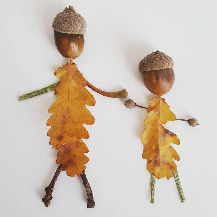 """""""En famille"""" #feuilles #art #creation #leaves #forest #foret #nature #green #flowleaf2015"""