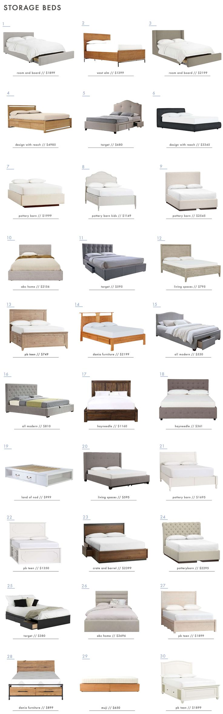 30 Storage Beds - for the 'storage deprived' - Emily Henderson