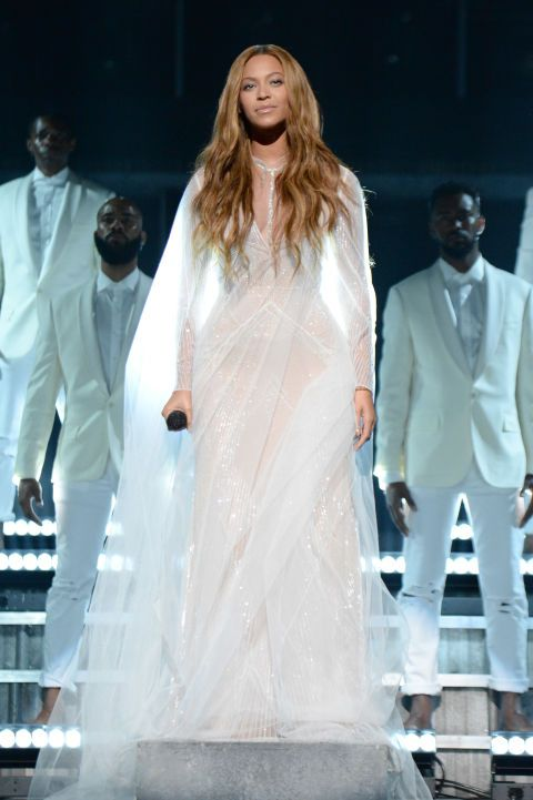 Performing at the 57th Annual Grammy Awards. See all of Beyoncé's best looks.
